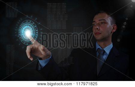Man using modern technologies