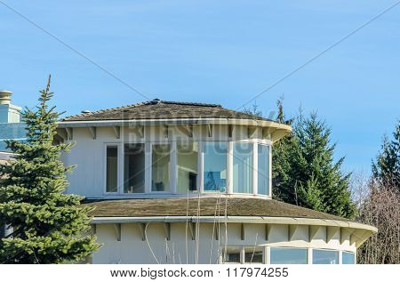 The top of the house with nice window.