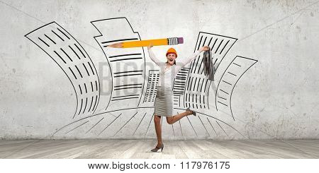 Architect designer and her project