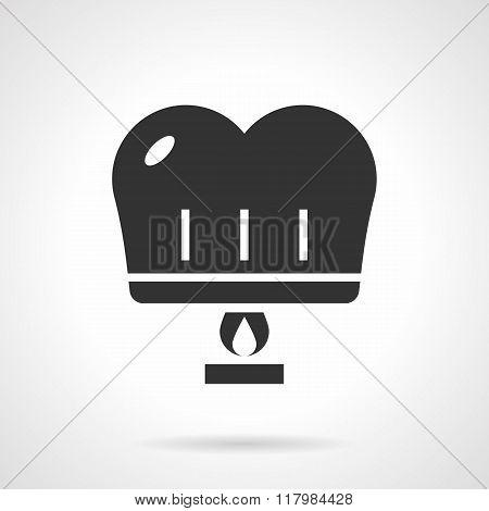 Romantic paper lantern black design vector icon