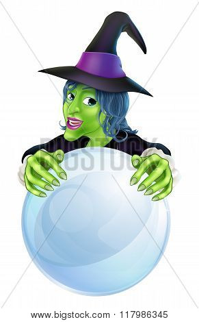Witch And Crystal Ball