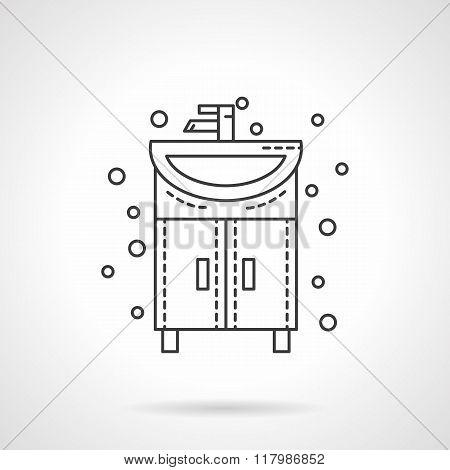 Washstand icon flat line design vector icon