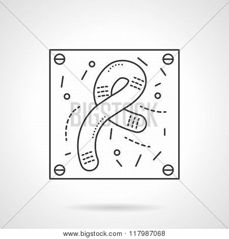 Bacilli icon flat line design vector icon