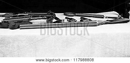 Weapons Display (1)-black & white