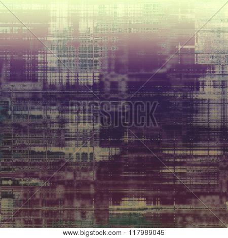 Abstract grunge textured background. With different color patterns: yellow (beige); green; pink; purple (violet); gray