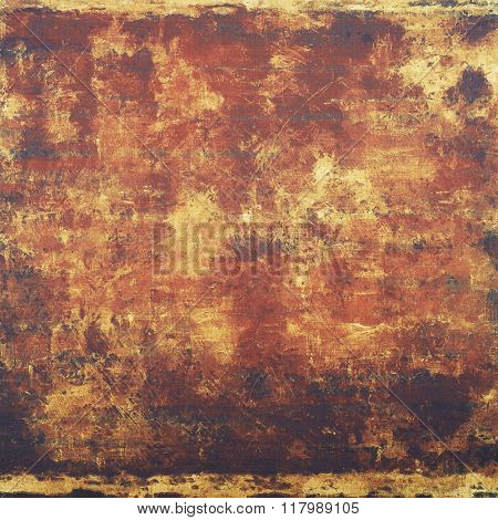 Grunge texture with decorative elements and different color patterns: yellow (beige); brown; red (orange); pink; gray