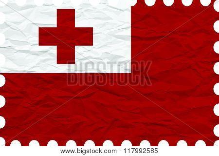 Wrinkled Paper Tonga Stamp