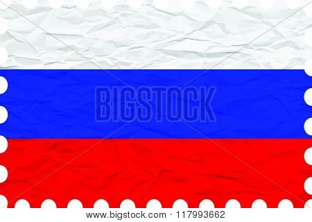 Wrinkled Paper Russian Federation Stamp