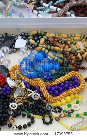 costume jewellery old necklaces