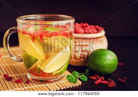 Fresh Antioxidant Herbal Tea From Goji Berries