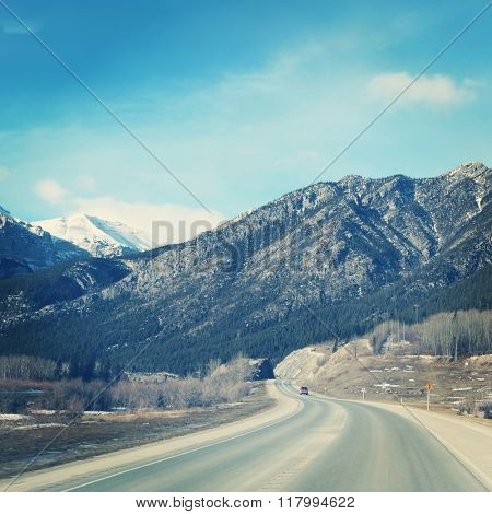 Beautiful View of Rocky mountains - Instagram effect