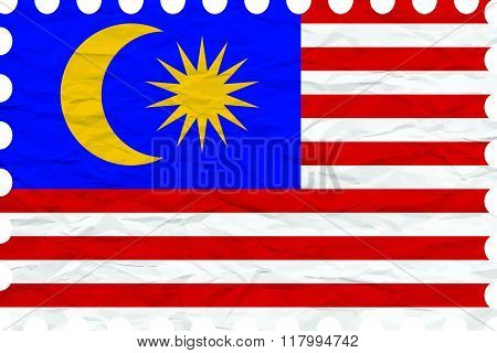 Wrinkled Paper Malaysia Stamp