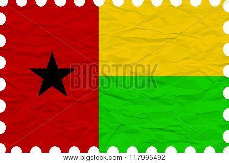 Wrinkled Paper Guinea Bissau Stamp