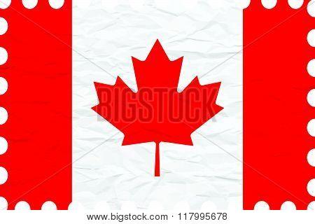 Wrinkled Paper Canada Stamp