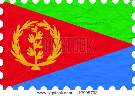 Wrinkled Paper Eritrea Stamp