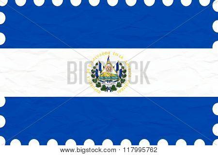 Wrinkled Paper El Salvador Stamp