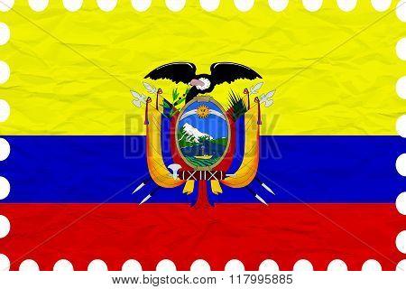 Wrinkled Paper Ecuador Stamp