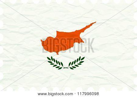 Wrinkled Paper Cyprus Stamp