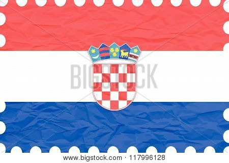 Wrinkled Paper Croatia Stamp