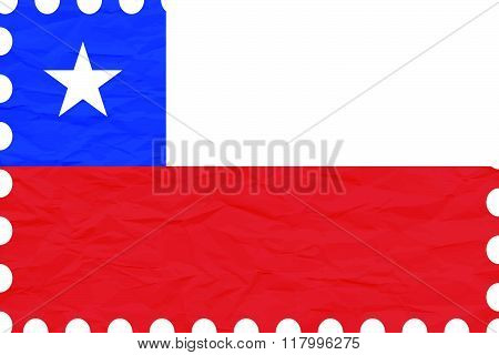 Wrinkled Paper Chile Stamp