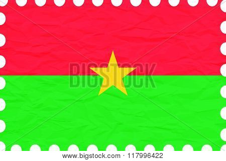 Wrinkled Paper Burkina Faso Stamp