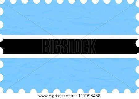 Wrinkled Paper Botswana Stamp