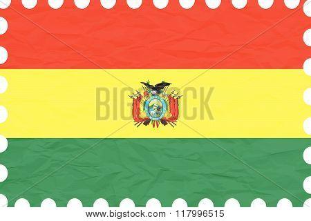 Wrinkled Paper Bolivia Stamp