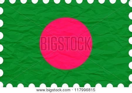 Wrinkled Paper Bangladesh Stamp