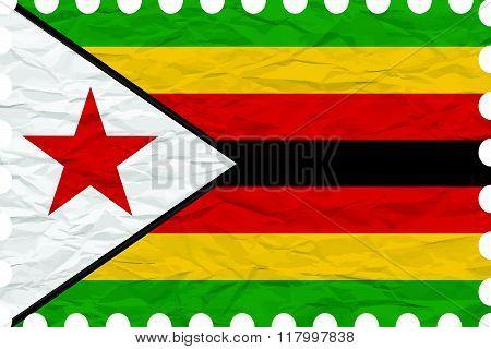 Wrinkled Paper Zimbabwe Stamp