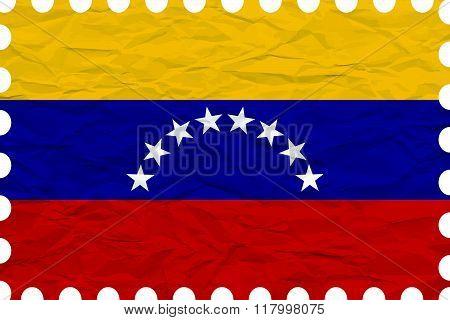 Wrinkled Paper Venezuela Stamp
