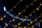 Постер, плакат: Bucharest Romania December 25: Hotel Intercontinental On December 25 2015 In Bucharest Horizont
