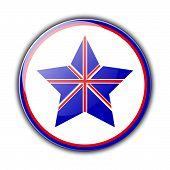 Постер, плакат: British flag as star