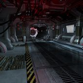 pic of starship  - background or composing image inside a futuristic scifi spaceship - JPG