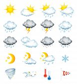 stock photo of windy weather  - Set of 20 high quality vector weather icons - JPG