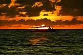 Sunset on the Indian Ocean