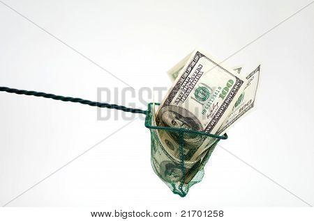 Money In Fishing Net