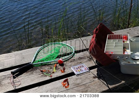 Preparing For Fishing Day.