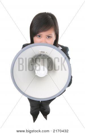 Leader (Focus On Megaphone)