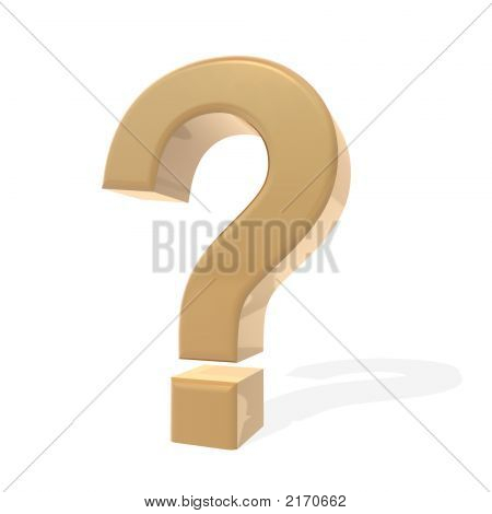 Golden Question Mark