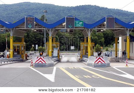 Toll gate in Croatia