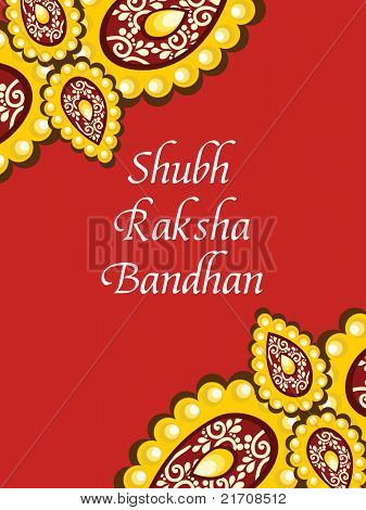 greeting card for shubh rakshabandhan