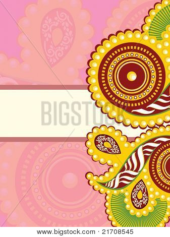 creative design greeting card for rakshabandhan