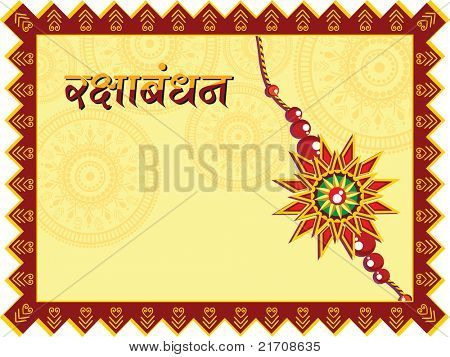 vector card for rakshabandhan