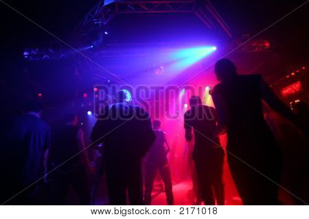 Dancing Young People In An Underground Club
