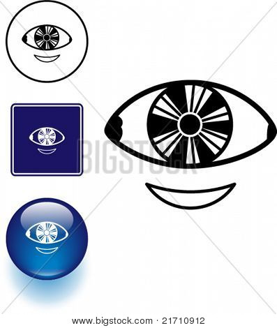 vision correction contact lens symbol sign and button