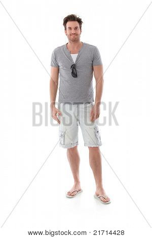 Goodlooking young man dressed for summer.?