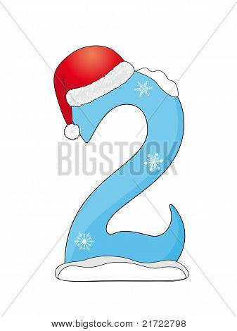 Christmas Number Two Vector & Photo | Bigstock