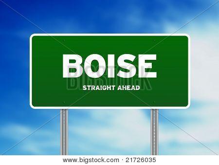 Sinal de estrada de Boise, Idaho