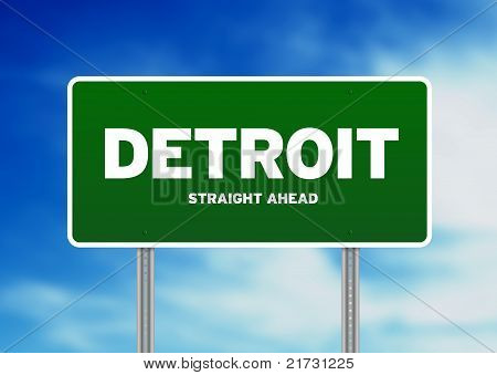Detroit Highway Sign