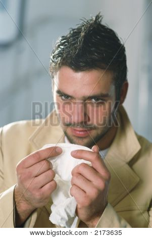 A Man With A Handkerchief